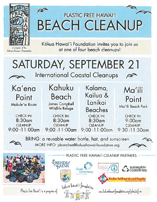 Beach Cleanup September 21, 2013